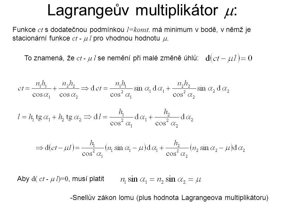 Lagrangeův multiplikátor :