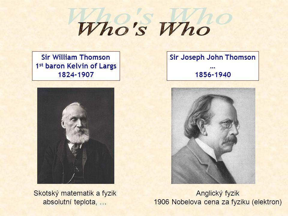 1st baron Kelvin of Largs Sir Joseph John Thomson