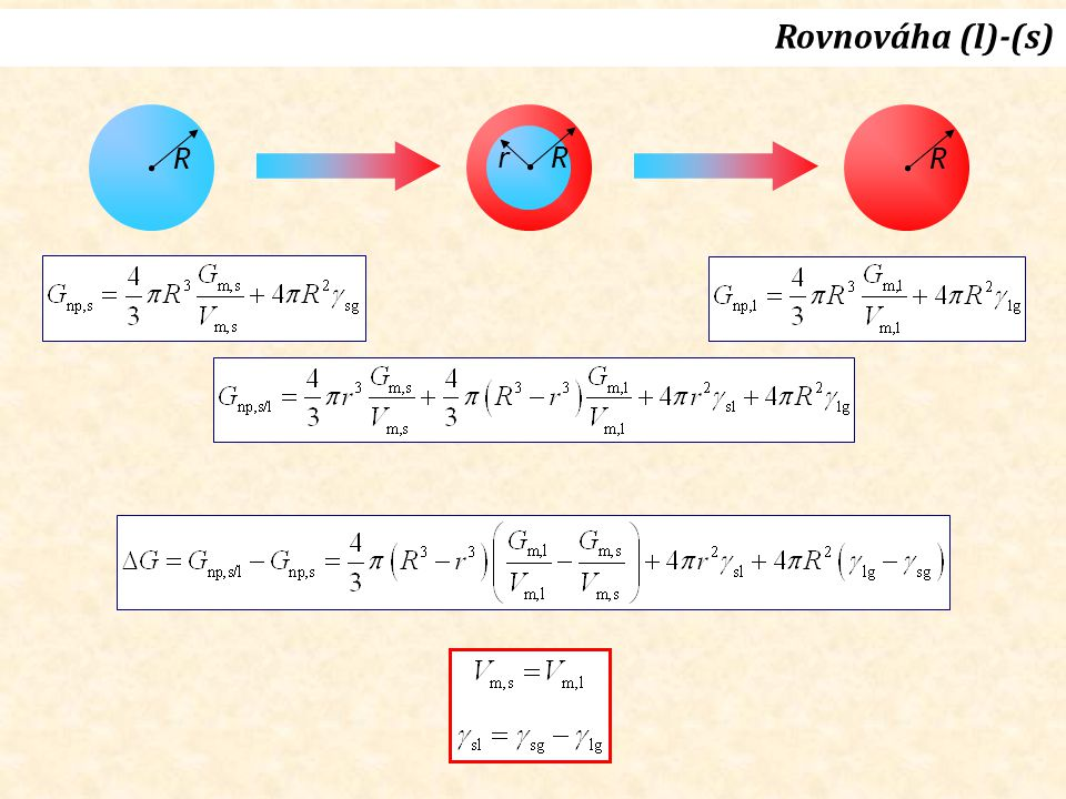 Rovnováha (l)-(s) R r