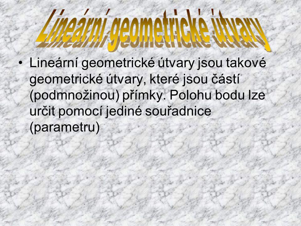 Lineární geometrické útvary