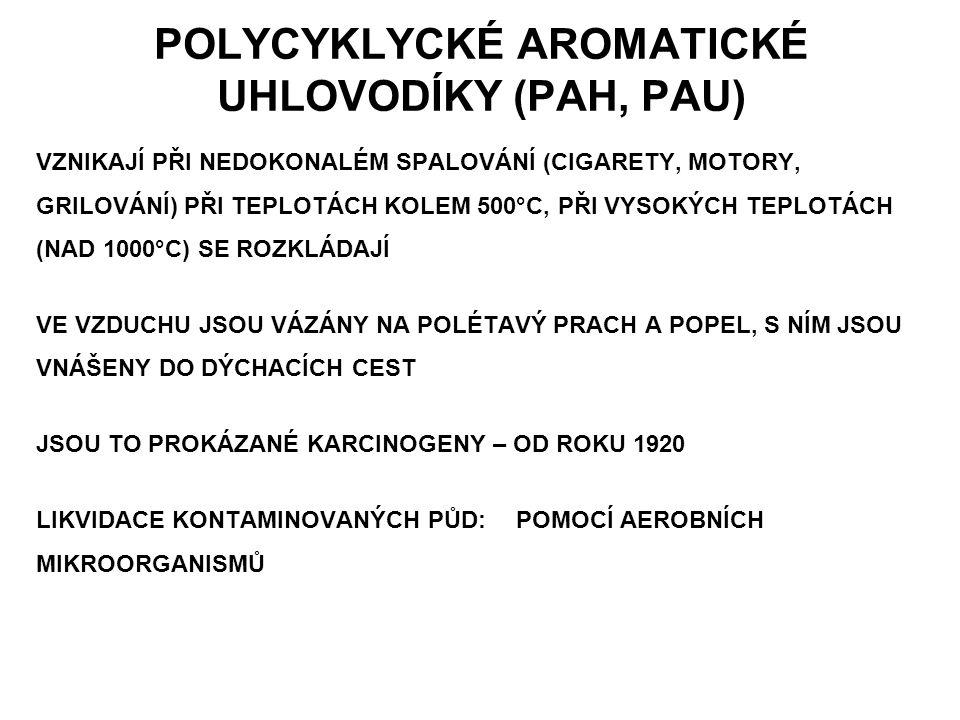 POLYCYKLYCKÉ AROMATICKÉ UHLOVODÍKY (PAH, PAU)