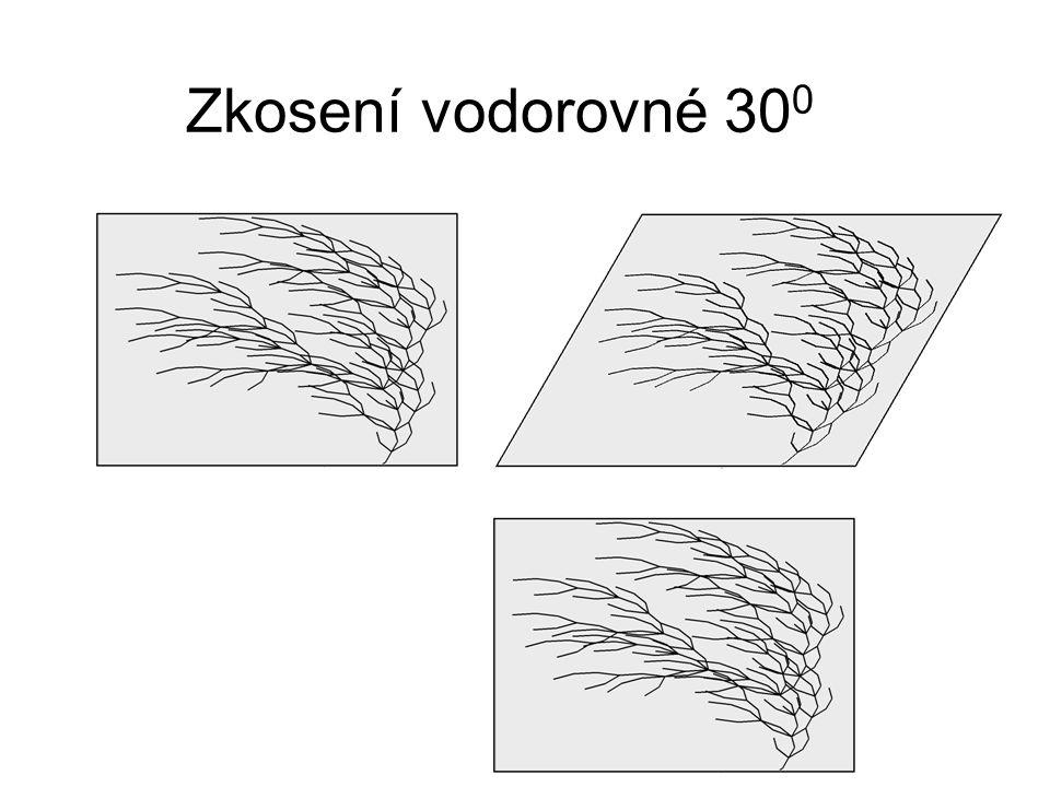 Zkosení vodorovné 300