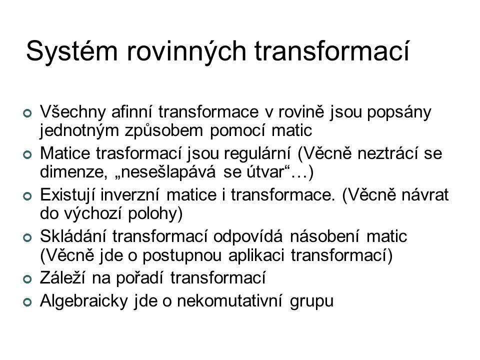 Systém rovinných transformací