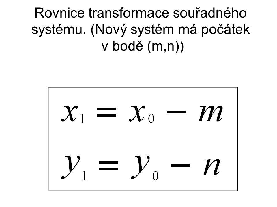 Rovnice transformace souřadného systému