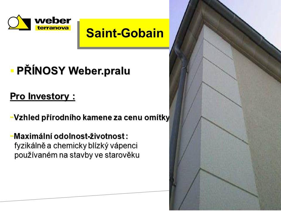 Saint-Gobain Pro Investory : Vzhled přírodního kamene za cenu omítky