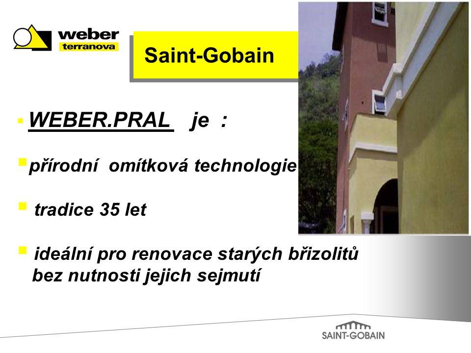 Saint-Gobain přírodní omítková technologie tradice 35 let