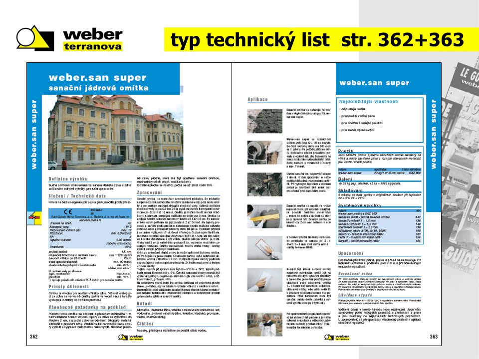 typ technický list str. 362+363