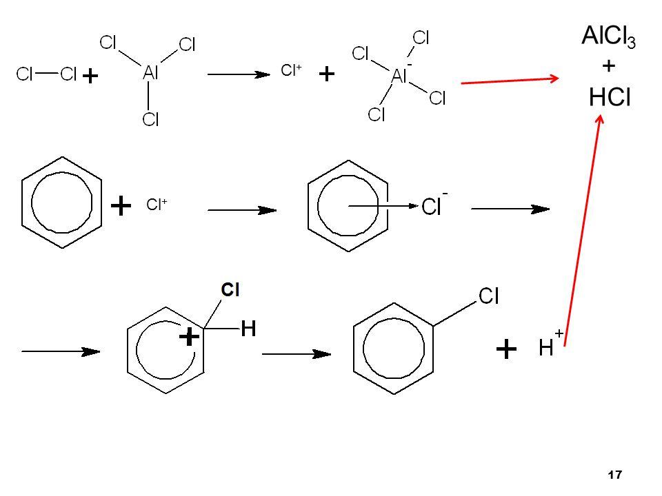 AlCl3 + HCl Cl+ Cl+
