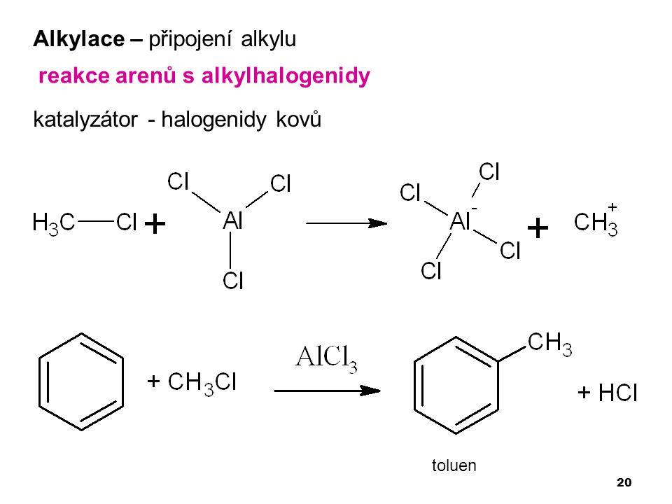 Alkylace – připojení alkylu