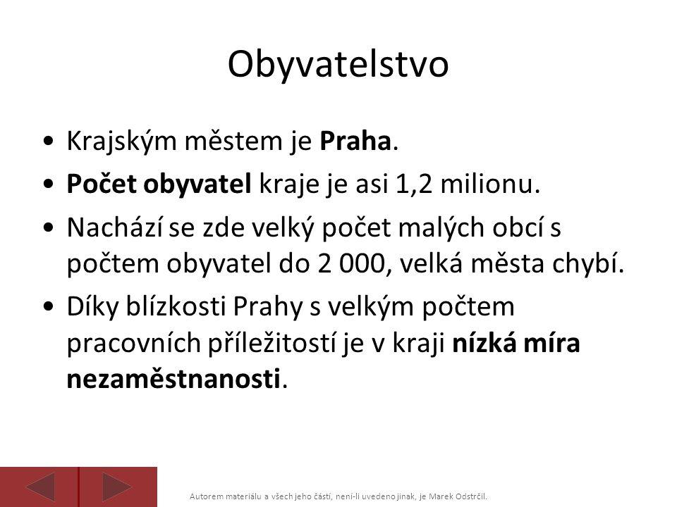 Obyvatelstvo Krajským městem je Praha.
