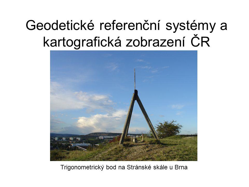 Geodetické referenční systémy a kartografická zobrazení ČR