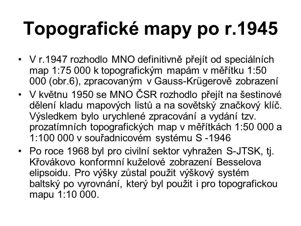Topografické mapy po r.1945