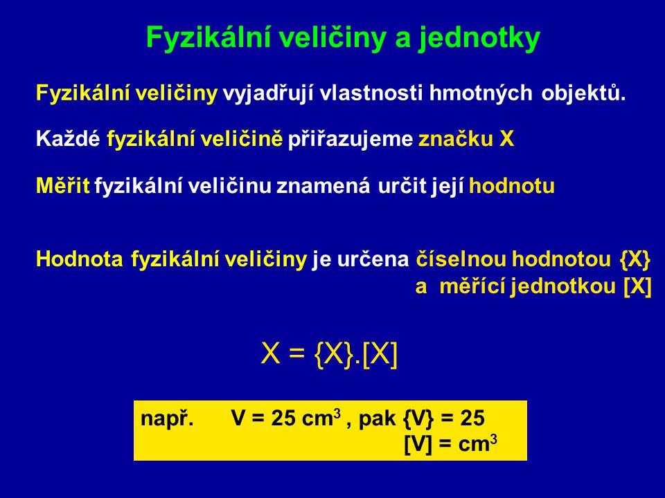 Fyzikální veličiny a jednotky