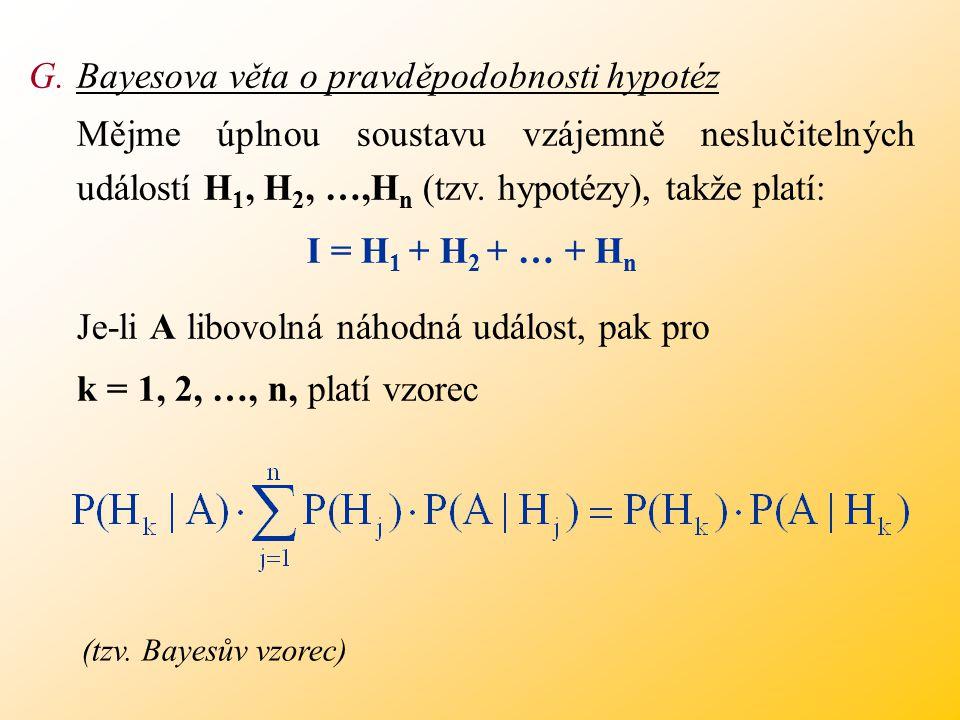 Bayesova věta o pravděpodobnosti hypotéz
