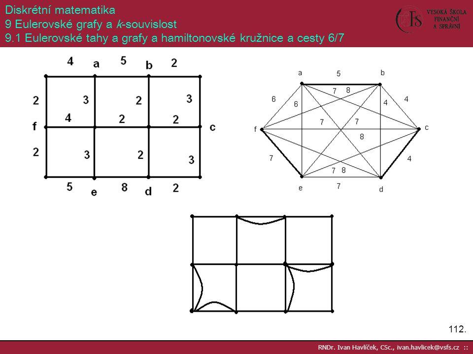 9 Eulerovské grafy a k-souvislost