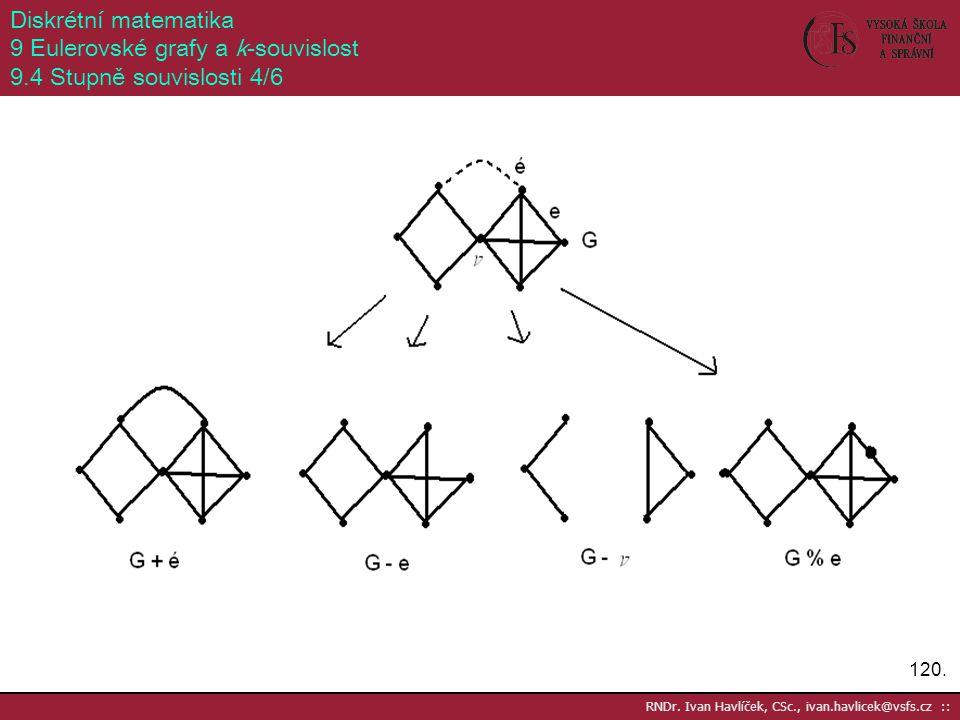 9 Eulerovské grafy a k-souvislost 9.4 Stupně souvislosti 4/6