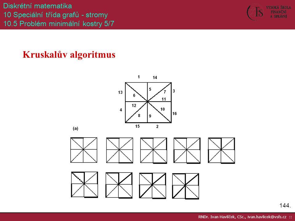 Kruskalův algoritmus Diskrétní matematika