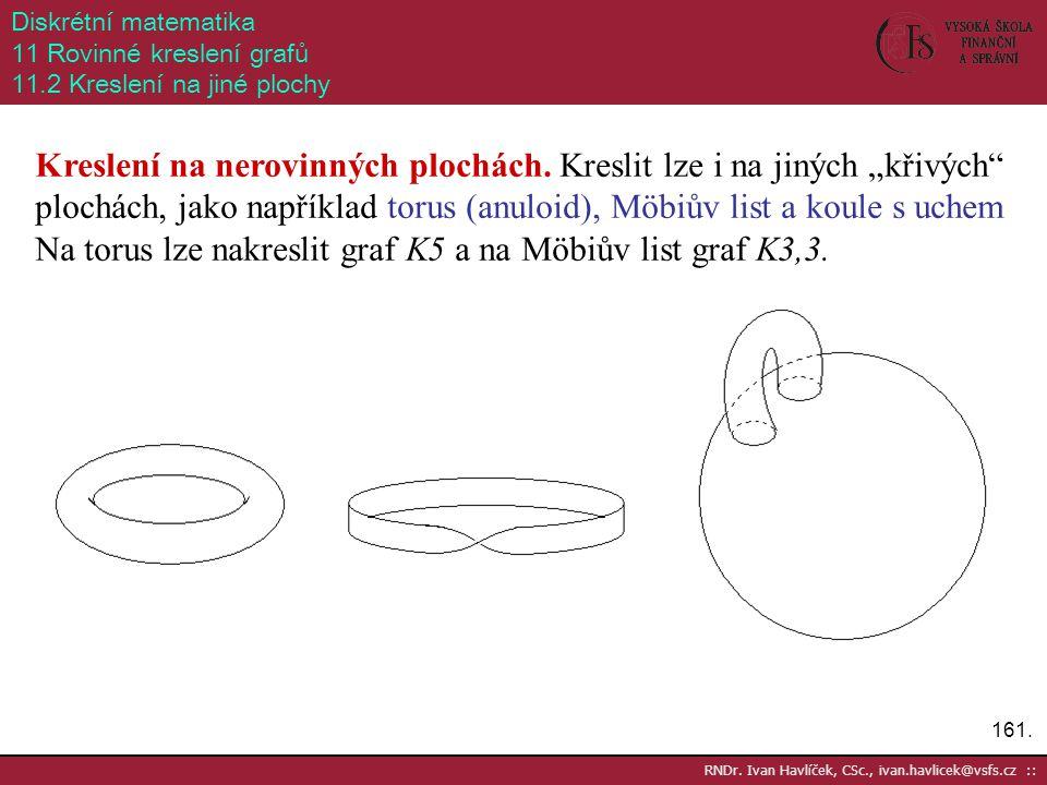 Diskrétní matematika 11 Rovinné kreslení grafů