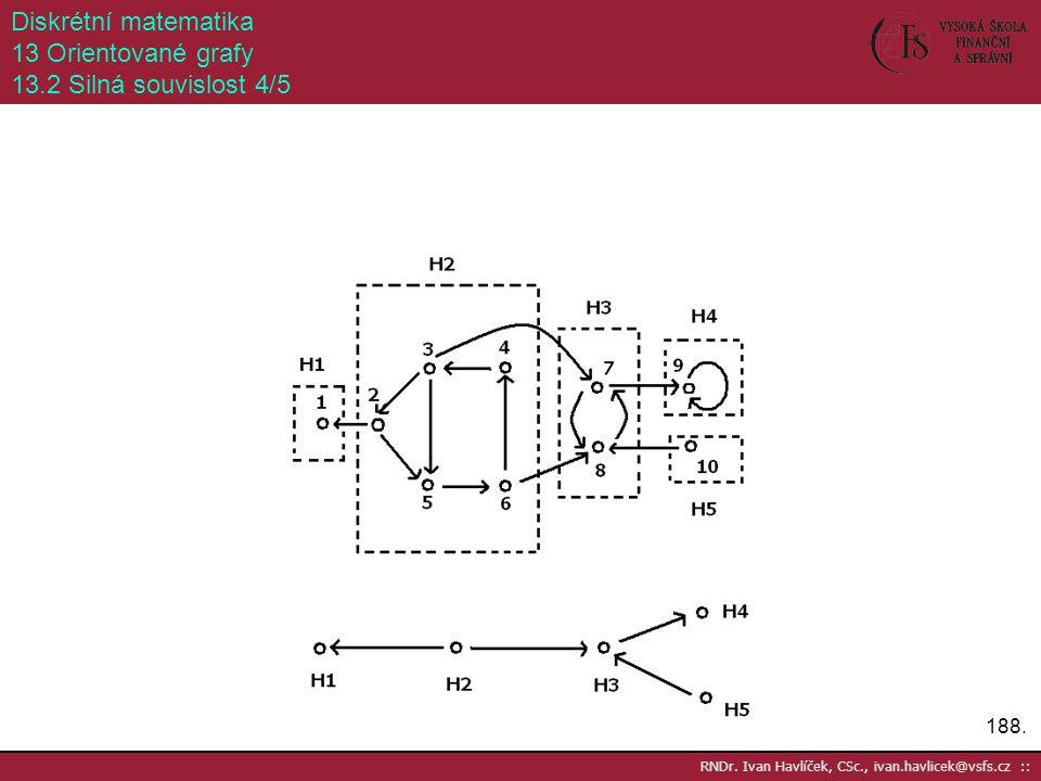 Diskrétní matematika 13 Orientované grafy 13.2 Silná souvislost 4/5