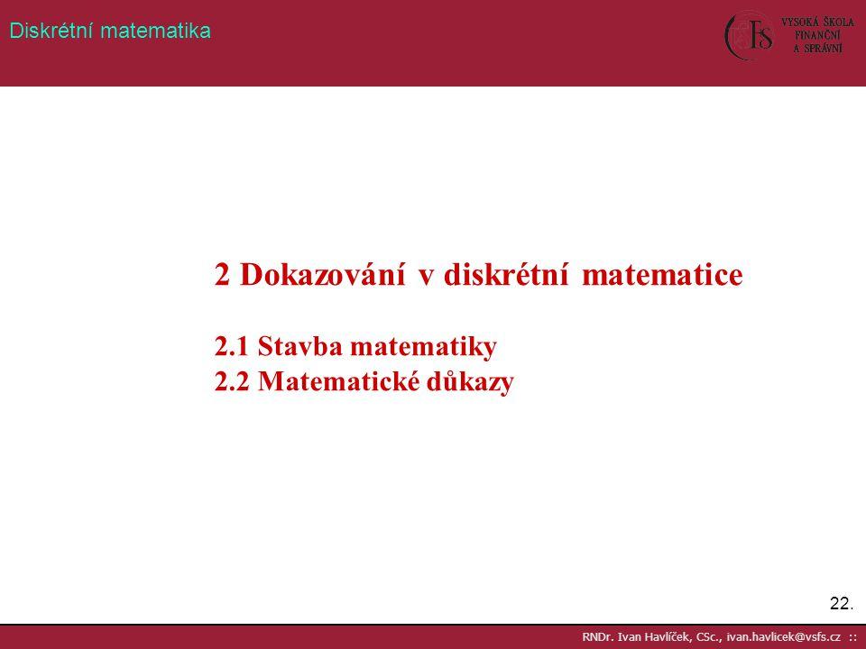 2 Dokazování v diskrétní matematice