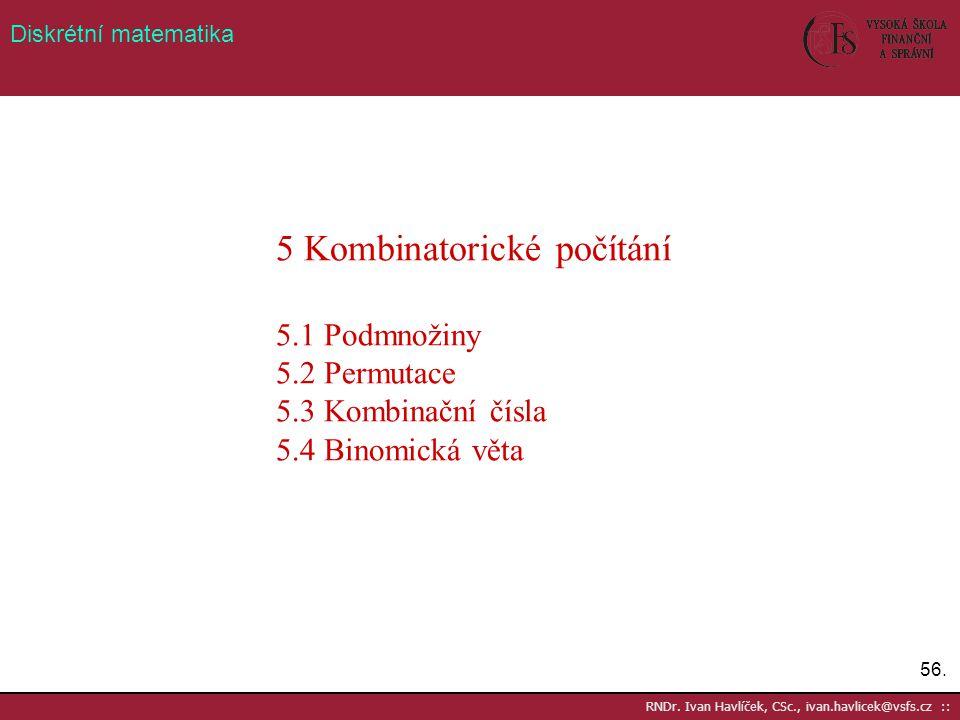 5 Kombinatorické počítání