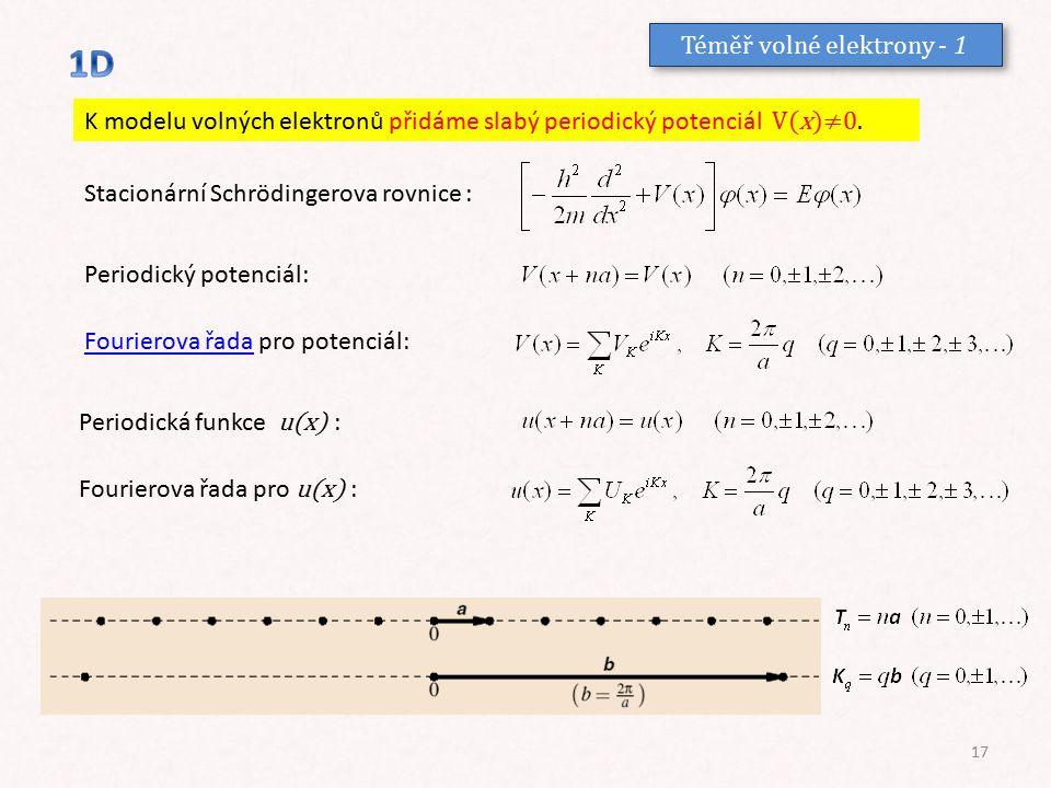 Téměř volné elektrony - 1