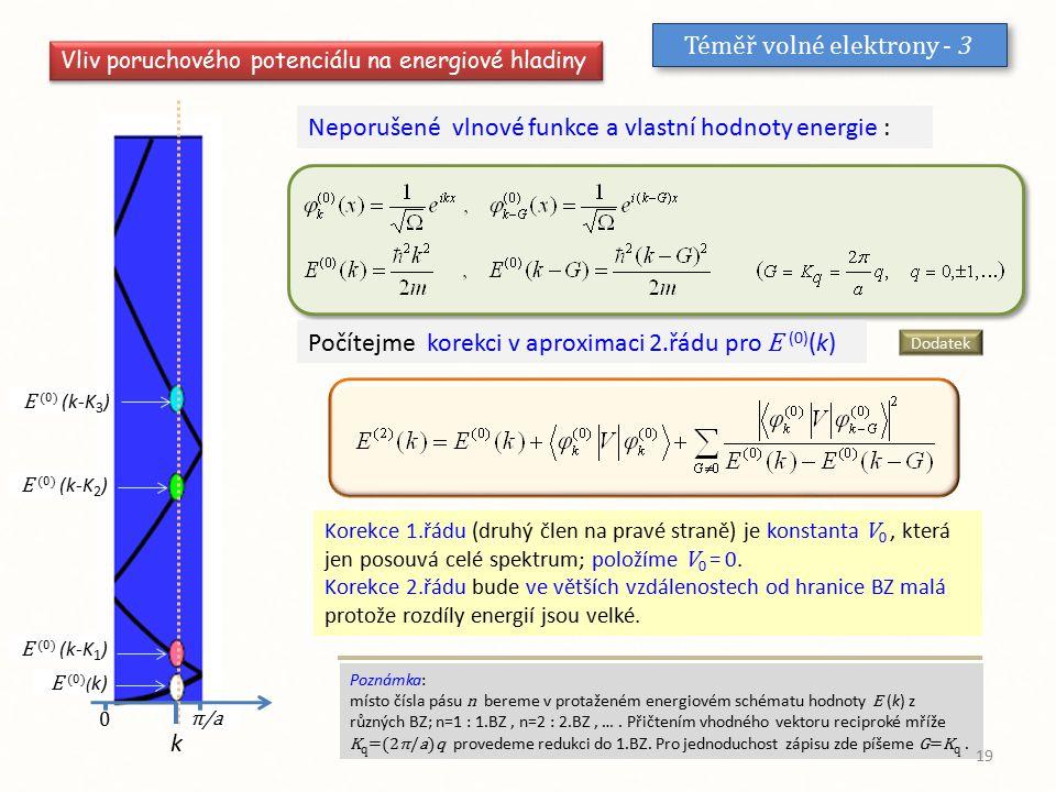 Téměř volné elektrony - 3