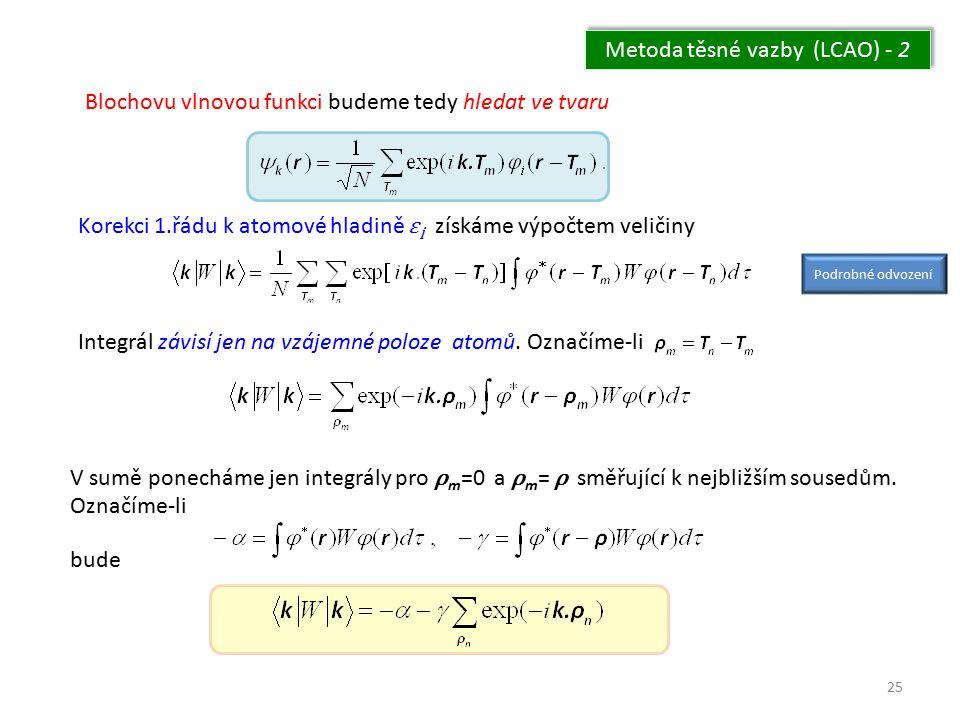 Metoda těsné vazby (LCAO) - 2