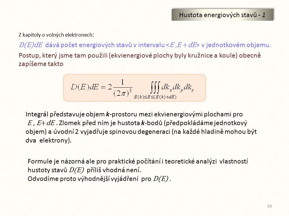 Hustota energiových stavů - 1
