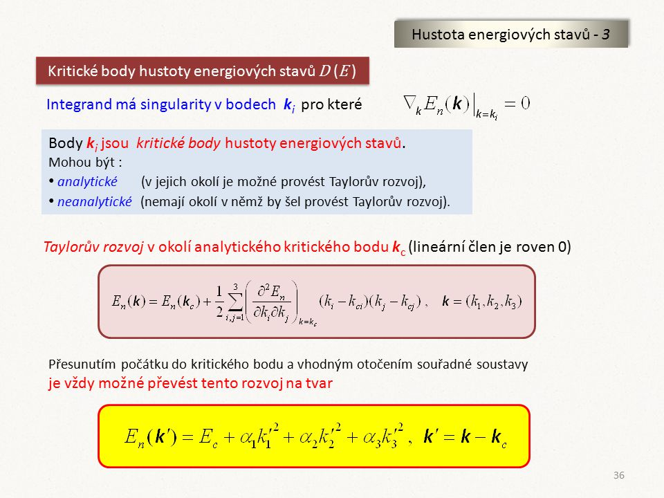 Hustota energiových stavů - 3