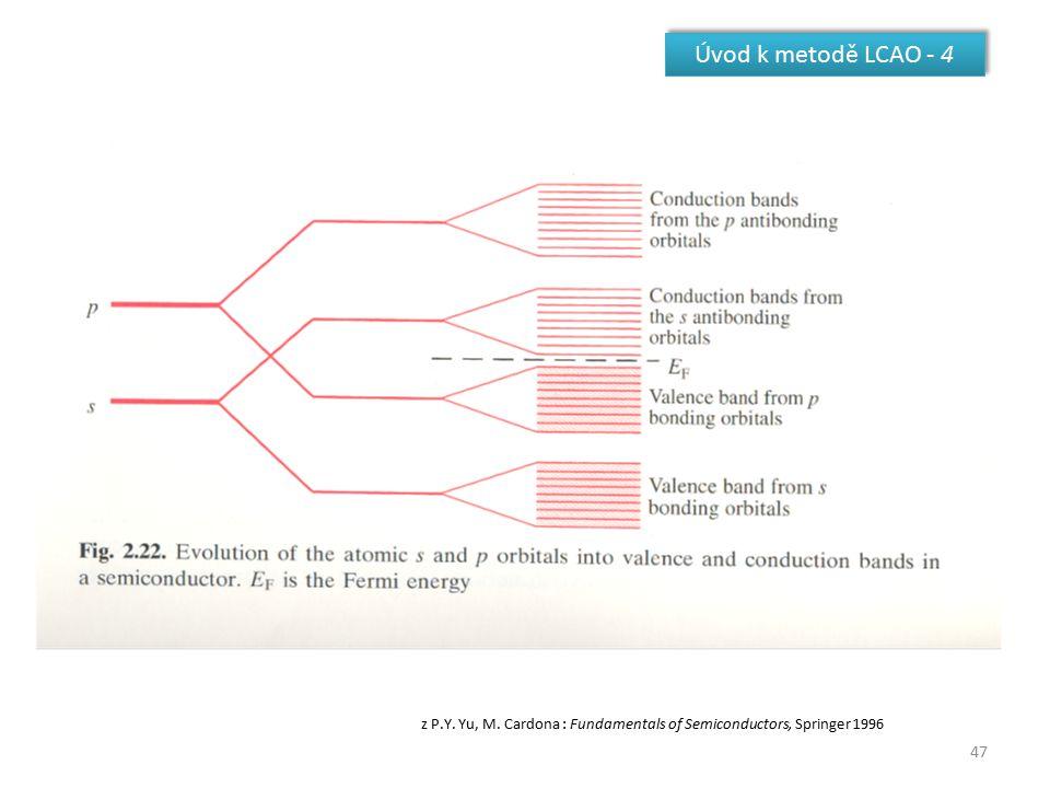 Úvod k metodě LCAO - 4 z P.Y. Yu, M. Cardona : Fundamentals of Semiconductors, Springer 1996