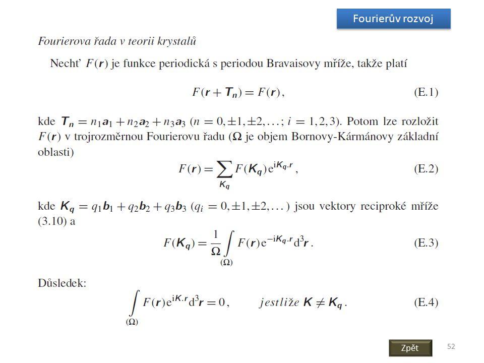 Fourierův rozvoj Zpět