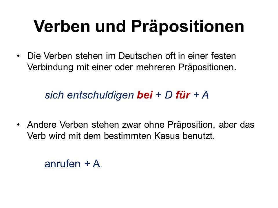 Verben und Präpositionen