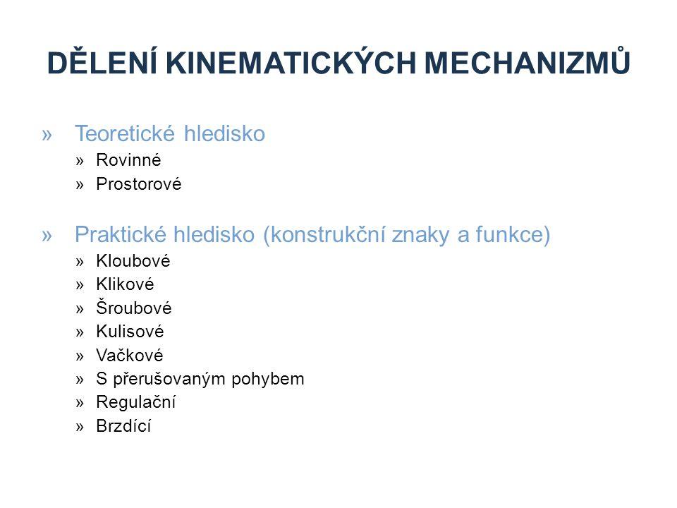 Dělení kinematických mechanizmů