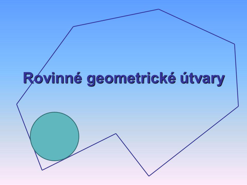 Rovinné geometrické útvary