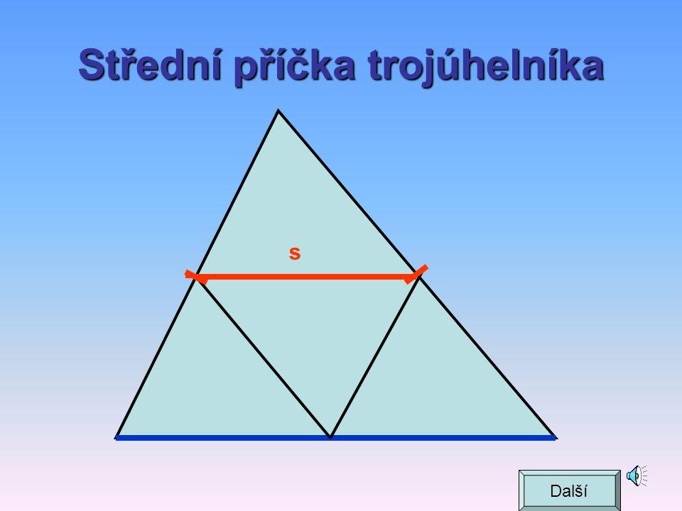 Střední příčka trojúhelníka