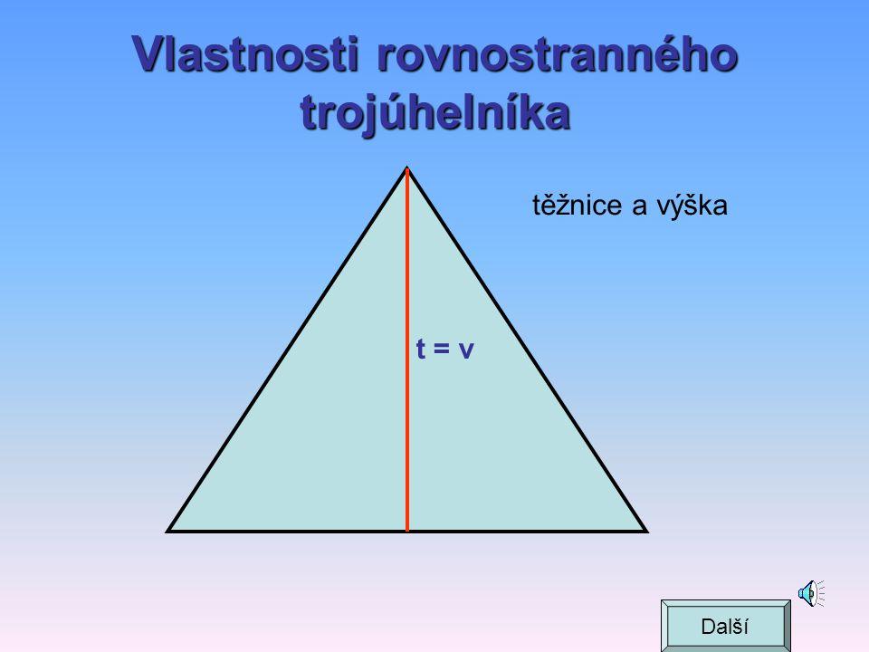 Vlastnosti rovnostranného trojúhelníka