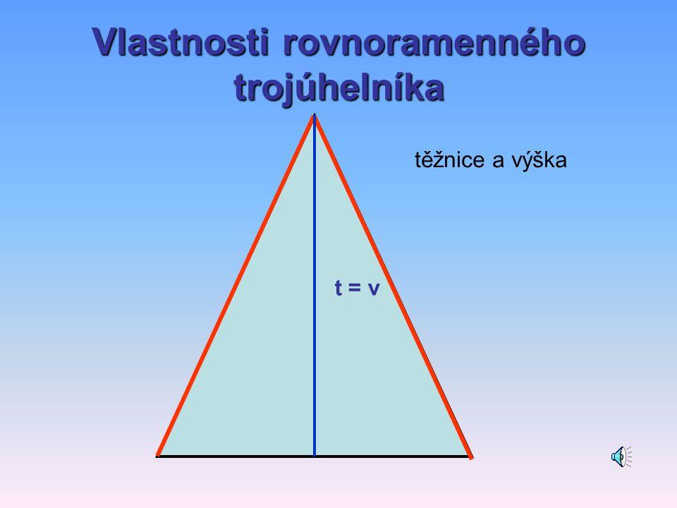 Vlastnosti rovnoramenného trojúhelníka