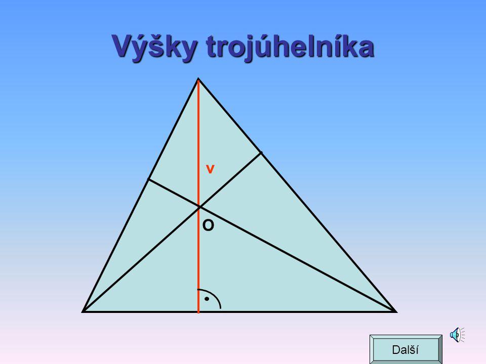 Výšky trojúhelníka v O Další