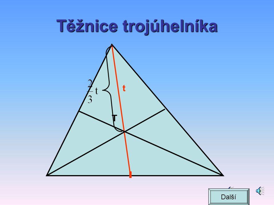 Těžnice trojúhelníka t T Další