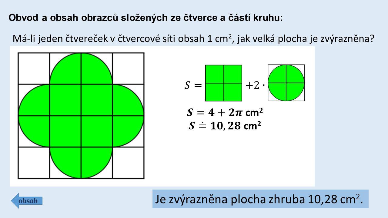 Je zvýrazněna plocha zhruba 10,28 cm2.