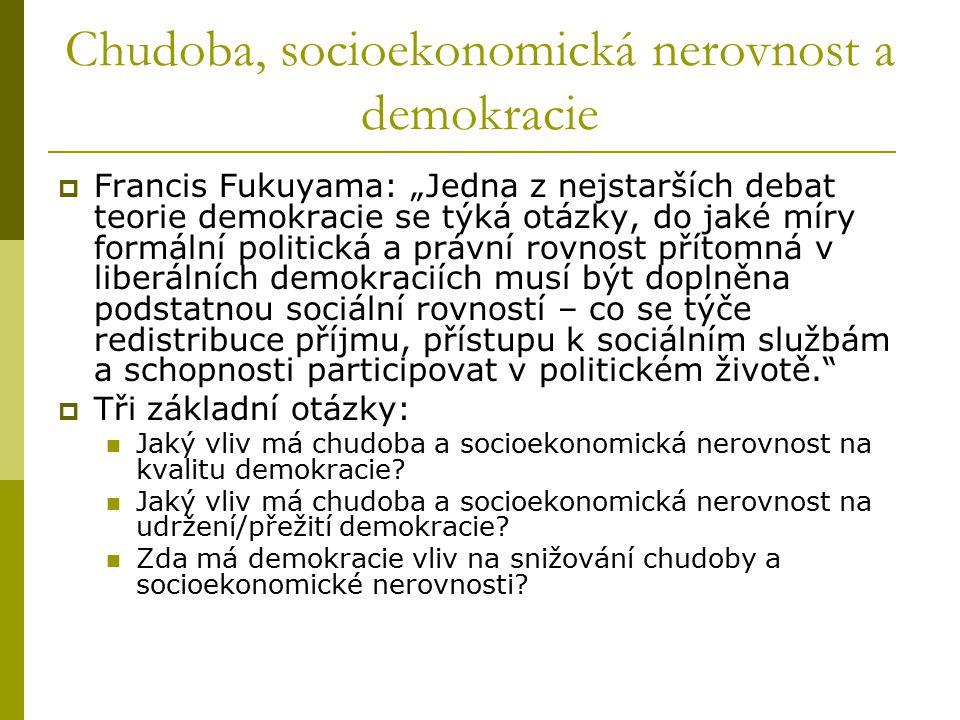 Chudoba, socioekonomická nerovnost a demokracie
