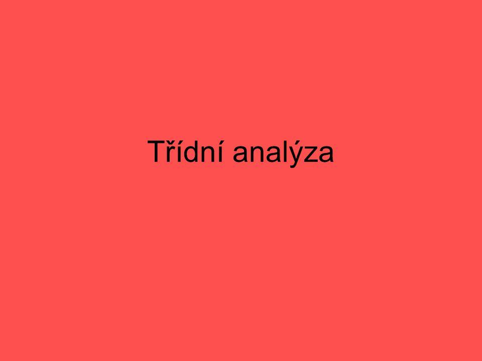 Třídní analýza