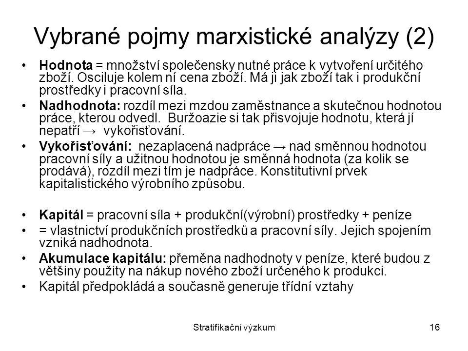 Vybrané pojmy marxistické analýzy (2)