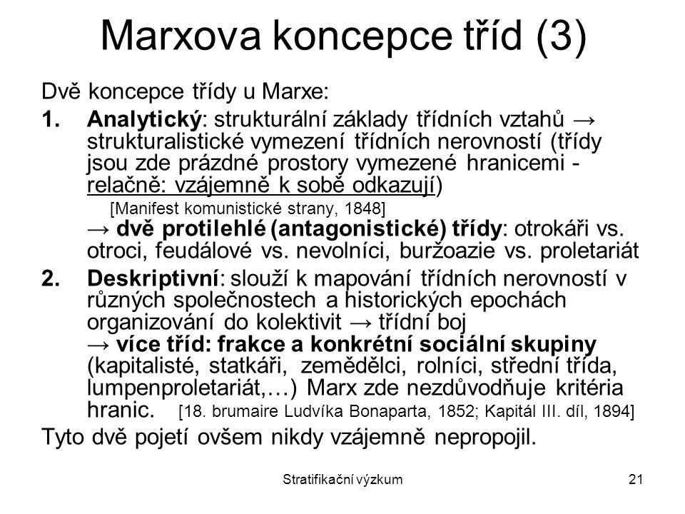Marxova koncepce tříd (3)