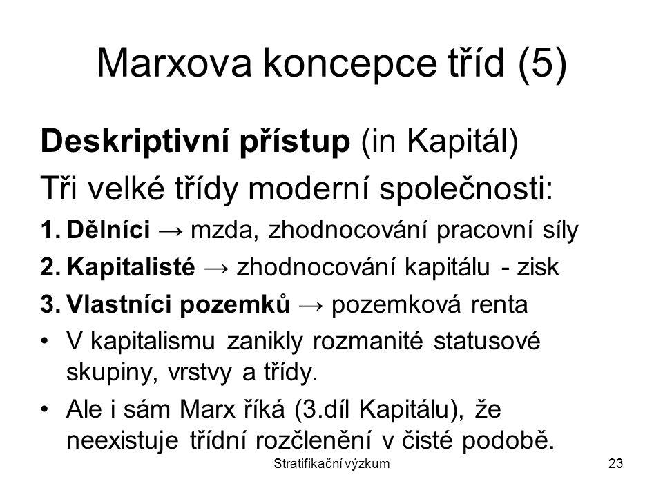 Marxova koncepce tříd (5)