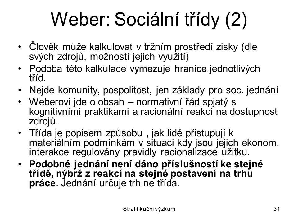 Weber: Sociální třídy (2)