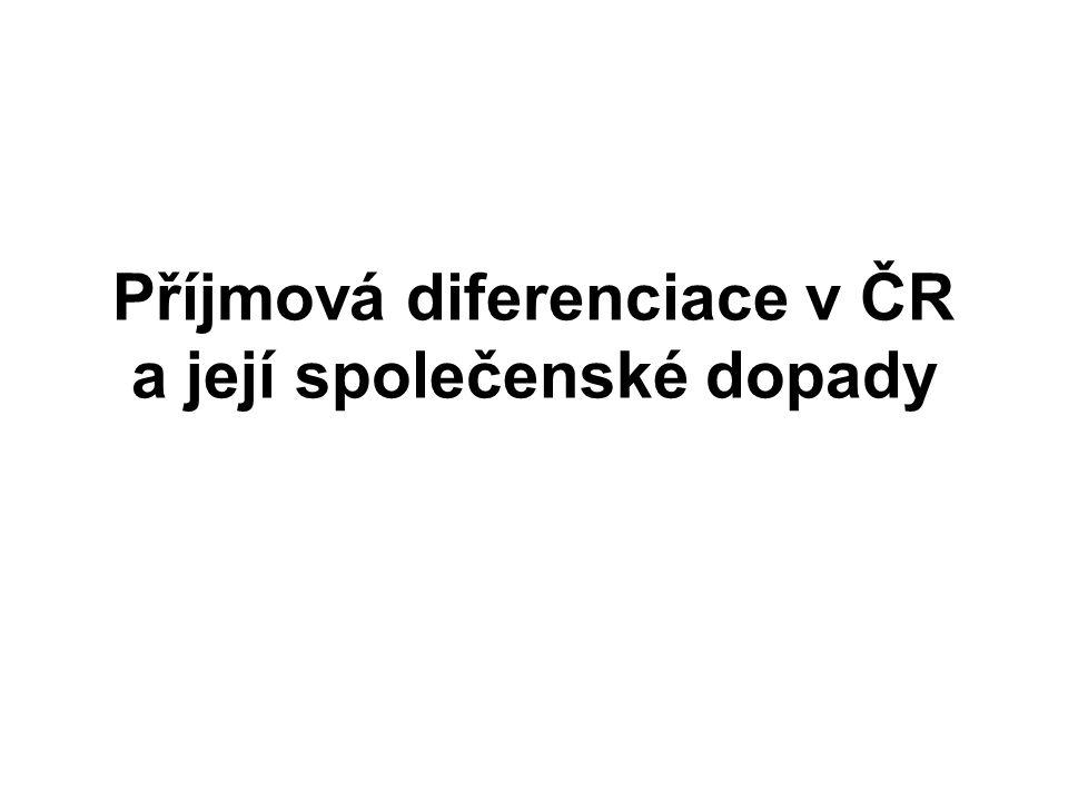 Příjmová diferenciace v ČR a její společenské dopady