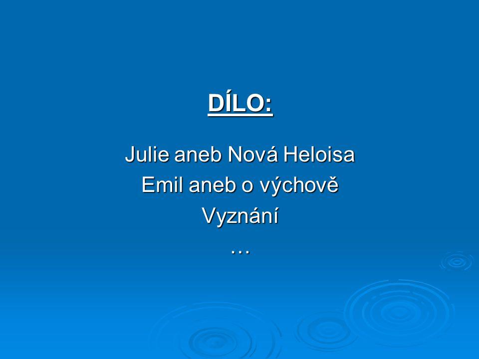 Julie aneb Nová Heloisa