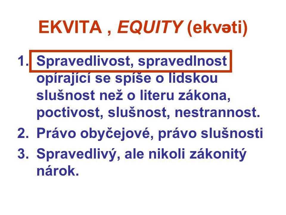EKVITA , EQUITY (ekv ti) e